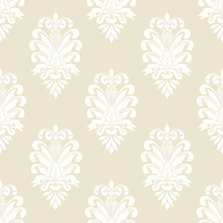 Vector damask seamless pattern background. Classical luxury old fashioned damask ornament, royal victorian seamless texture for wallpapers, textile, wrapping. Exquisite floral baroque template Vektorové ilustrace