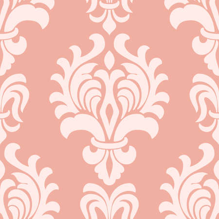 damask seamless pattern background. Classical luxury old fashioned damask ornament.