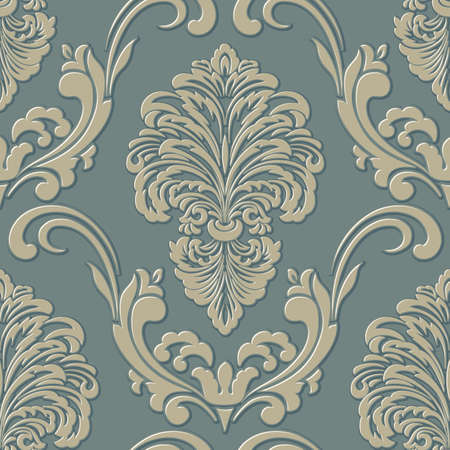 damask seamless pattern background. Classical luxury old fashioned damask ornament.