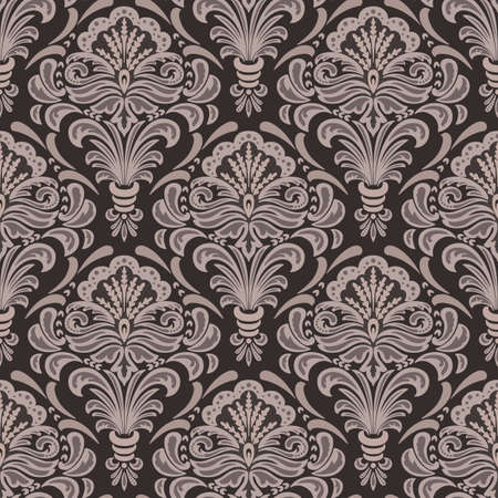Vector damask seamless pattern background. Classical luxury old fashioned damask ornament, royal victorian seamless texture for wallpapers, textile, wrapping. Exquisite floral baroque template Vectores