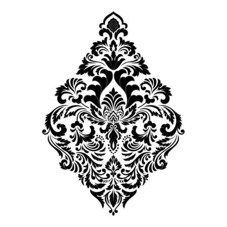 Vector damask element. Isolated damask central illustration. Classical luxury old fashioned damask ornament Vectores