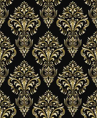 Vector detailed damask seamless pattern background. Classical luxury old fashioned damask ornament, royal victorian seamless texture for wallpapers, textile, wrapping. Exquisite baroque template Ilustrace