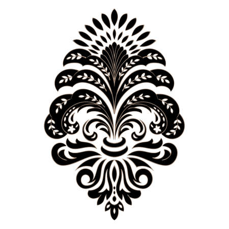 Vector damask element. Isolated damask central illustration. Classical luxury old fashioned damask ornament, royal victorian texture for wallpapers, textile, wrapping. Vectores