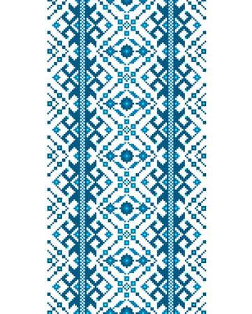 Vector illustration of Ukrainian folk seamless pattern ornament. Ethnic ornament. Border element. Traditional Ukrainian, Belarusian folk art knitted embroidery pattern Vektoros illusztráció