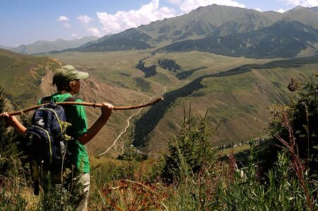 Travel destination: a kind of a mountain ridge photo