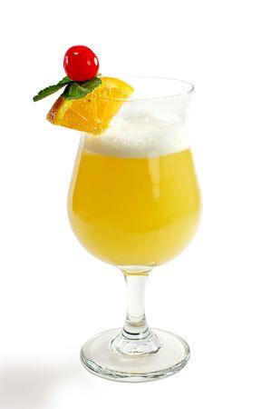 Cocktail de citron et chaux-belle boisson en verre