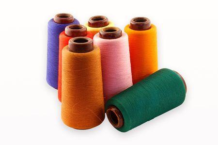 Color�s un thread sur un fond blanc