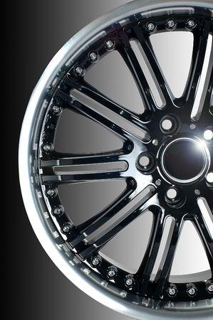 D�tails de la conception de la beaut� de la roue de voitures de sport Banque d'images