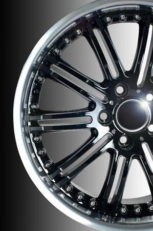 Detail of beauty design of Sport Car Wheel photo