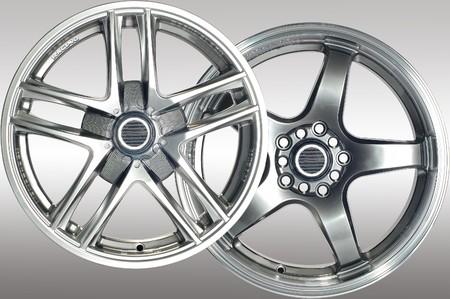 Detail of beauty design of Sport Car Wheel Stock Photo - 6884255
