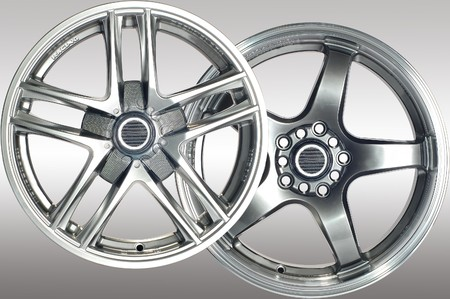 Detail of beauty design of Sport Car Wheel Stock Photo - 6884255