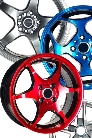 Detail of beauty design of Sport Car Wheel Stock Photo - 6884257