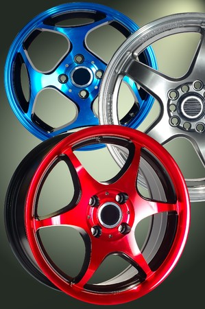 Detail of beauty design of Sport Car Wheel Stock Photo - 7365014