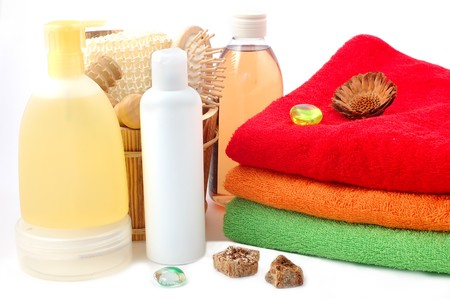 freshening: Towels both freshening creams and oils for a shower and rest