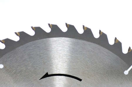 Saw disk close up on a white background photo