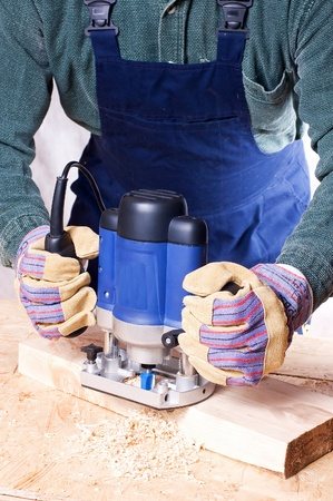 Milling cutter manual electric on a tree close up Stock Photo - 8662167