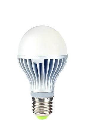 Ampoule LED. La nouvelle �re des lampes � incandescence que d'�tre banni dans les pays de plus en plus. Isol� sur fond blanc. Banque d'images