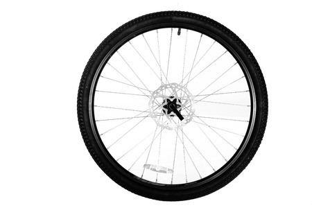 bicycle wheel: Wheel from a bicycle isolated on a white background