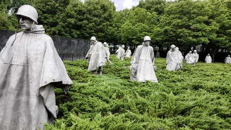 WASHINGTON DC, USA september 16 2020: Korean War Veterans Memorial in Washington DC
