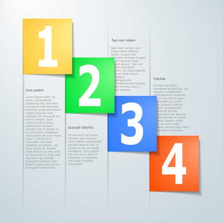 progress steps: paper progress steps for tutorial Illustration