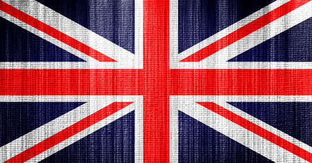 British flag towel texture as a background photo