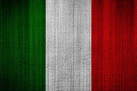 italy flag: Bandera italiana textura toalla como fondo