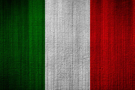 flag of italy: Italian flag towel texture as a background Stock Photo