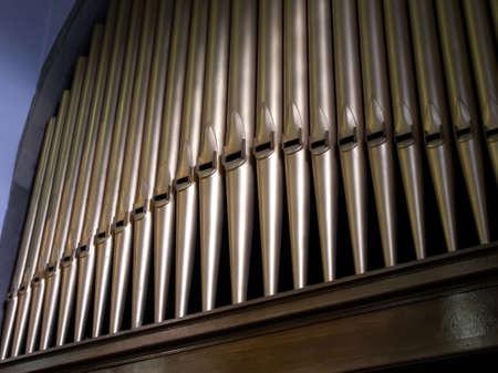 pipe organ: Pattern of church organ pipes.
