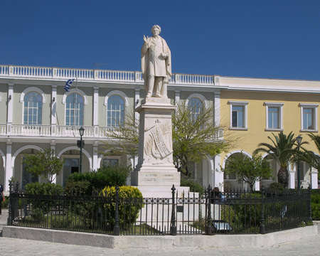 national poet: Dionysus Solomon the Zakynthos poet of the Greek national anthem.