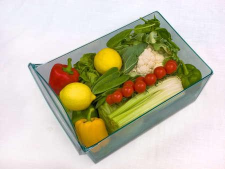 stocked: Refrigerator vegetable drawer