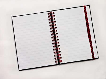 Spiral notebook open Stock Photo - 3372786