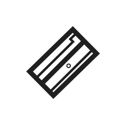 Sharpener icon black white