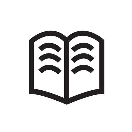 Book open icon black white