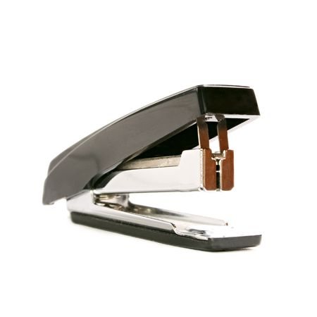 entire: Black stapler isolated on the white background
