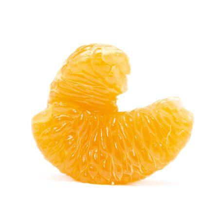 segment: Orange segment isolated on the white background Stock Photo