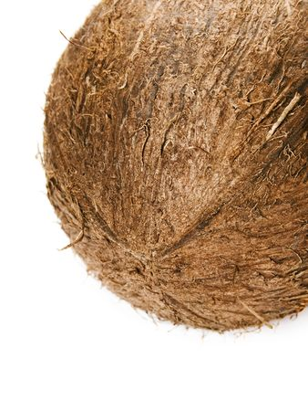 Coconut isolated on the white background photo