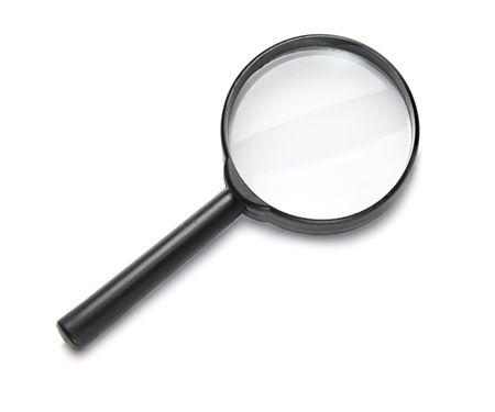 lupa: Lupa aislado en el fondo blanco.
