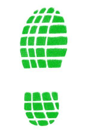 shoeprint: Track isolated on the white background