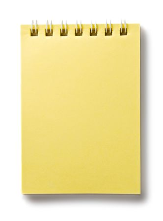 Notepad isolated on the white background Stock Photo - 6700154