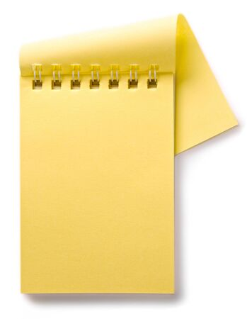 journal intime: Bloc-notes isol� sur le fond blanc