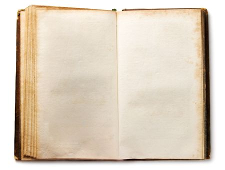 Old book isolated on white Stock Photo