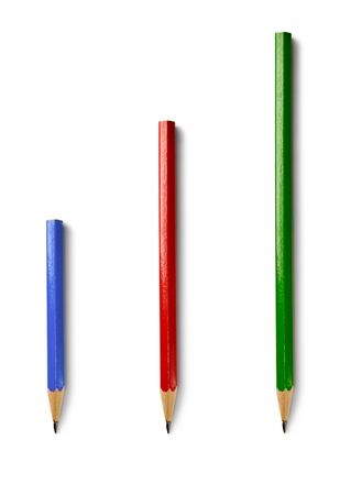 Pencils isolated on the white background Stock Photo