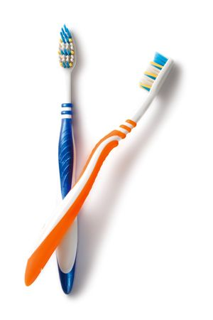 Tooth-brushes isolated on the white background Stock Photo - 6781806