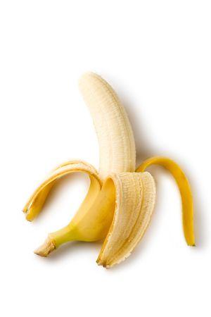 Banana isolated on the white background photo