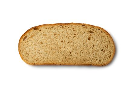 Bread slice isolated on white Stock Photo - 6781839