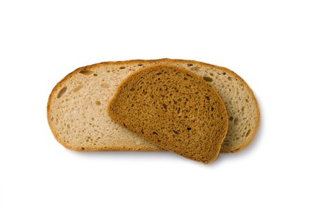 Bread slices isolated on white Stock Photo - 6781837