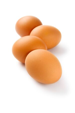 Eggs isolated on the white background photo