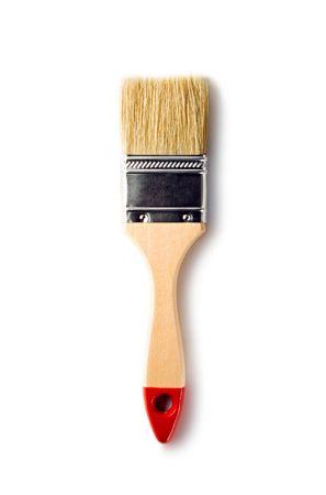 Paint brush isolated on the white background photo
