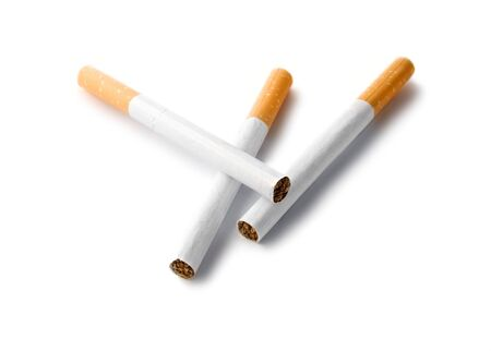 Cigarettes isolated on the white background