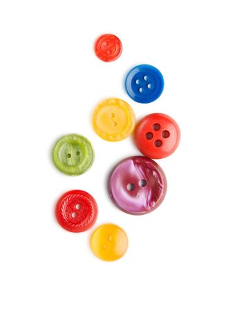 Buttons isolated on the white background photo